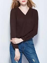 brown blouse womens brown blouses cheap price