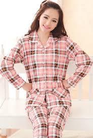 pajama comfort zone vintage flannel pajama set in pink