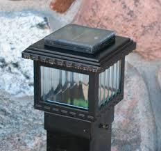 Solar Light For Fence Post - deck or fence lighting solar low voltage house current