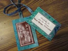 luggage tag favors honeymoon traveler s luggage tags personalized wedding favors idea