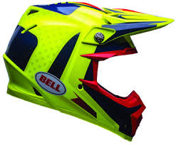 motocross helmets 2017 bell moto 9 flex vice blue yellow