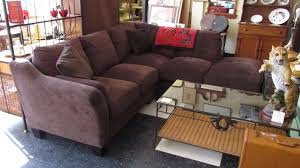 Costco Sectional Sofa by Furniture Brown Costco Sectional With Glass Top Coffee Table On