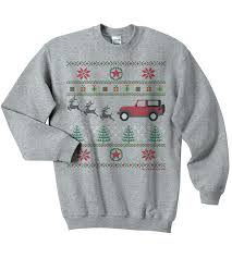 jeep christmas shirt all things jeep jeep christmas crewneck sweatshirt gray