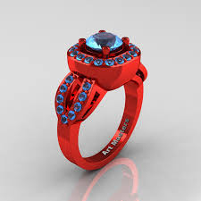 red gold rings images Classic french 14k red gold 1 0 ct blue topaz engagement ring r363 jpg