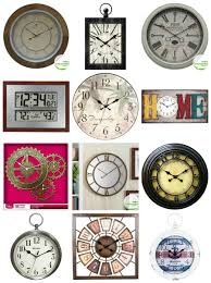 rustic glam wall clock domestic imperfection
