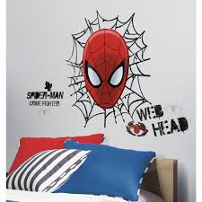 roommates dis ultimate spider man web head giant wall decal