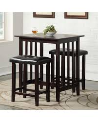 3 piece counter height table set huge deal on richland 3 piece counter height pub table set