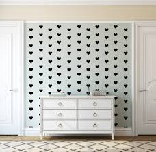 bobee black heart dots vinyl wall decals 36 count bobee llc black heart wall decals