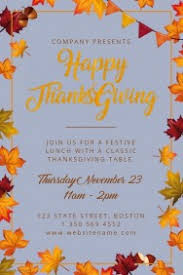 customizable design templates for happy thanksgiving postermywall