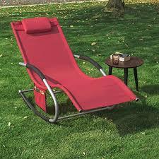 chaise longue transat sobuy ogs28 r fauteuil à bascule chaise longue transat de jardin