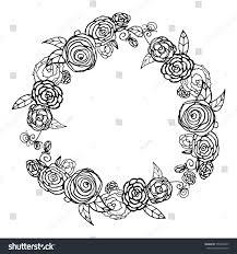 vector black white wreath stock vector 556349797
