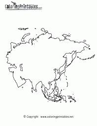 asia map coloring page aecost net aecost net