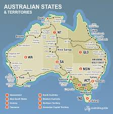 Where Is Wales On The Map Map Of Australia Australia U0027s Guide