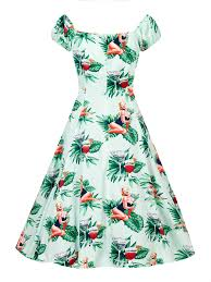 martini tropical the dotti dress in mint and martini print ponyboy vintage