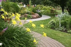 Beautiful Backyard Designs by Exterior Beautiful Backyard Landscaping Garden With Concrete