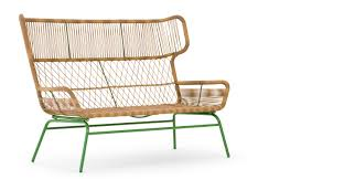lyra outdoor 2 seater sofa charcoal green made com