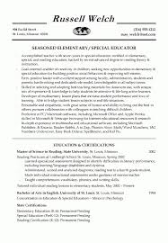 special education resume examples best resume collection