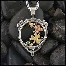 mothers pendant shamrock mothers pendant walker metalsmiths celtic jewelry