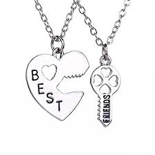 necklace with heart lock images Buy tbop necklace jewelry heart lock key best friends set of 2 pcs jpg