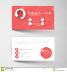 modern red business card template with flat user interface stock
