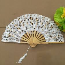 lace fans aliexpress buy free shipping 10pcs lot white battenburg lace