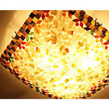 Seashell Light Fixture Seashell E27 Base Flush Mount Ceiling Light Fixture