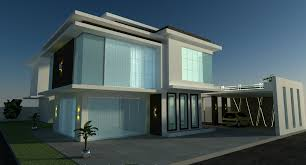 home building design exterior rukle with black wall glass windows