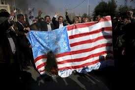 Illegal To Burn American Flag Government Supporters Rally In Iran As Tehran Mocks Trump U0027s Un