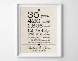 35 anniversary gift 35 years together 35th anniversary gift for husband