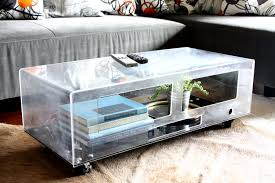 lucite coffee table base modern chic lucite coffee table