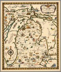 Map Of Michigan by A Map Of The Commonwealth Of Michigan David Rumsey Historical