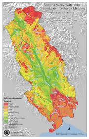 Sonoma California Map Sonoma Valley Watershed Groundwater Recharge Potential Map