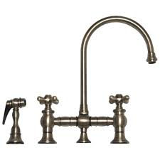 bronze centerset vintage style kitchen faucets two handle side
