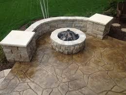 concrete backyard design concrete patio photos design ideas and