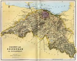 Edinburgh Map County Of Edinburgh Or Midlothian Map