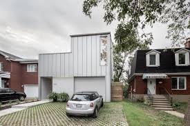 a montréal house with a flipped floor plan design milk