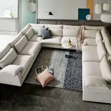 U Shaped Sectional Sofa Harmony Filled U Shaped Sectional West Elm