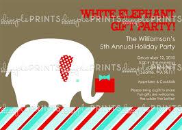 white elephant party invitation wording best elephant 2017