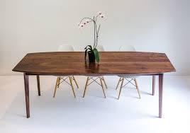danish modern dining room buy a custom the santa monica solid black walnut dining table
