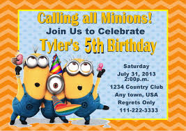 party invitations interesting minion party invitations ideas free