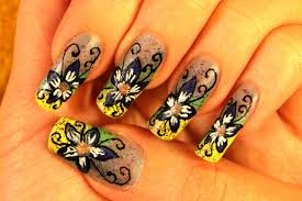 nail design tutorials 2012 nail design blue fary flower nail art