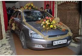 wedding car decoration fashion in look