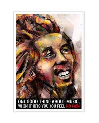 lab no 4 one good thing about music bob marley watercolor print
