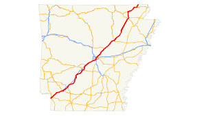 us map searcy arkansas u s route 67 in arkansas