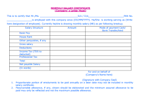21 free salary certificate template word excel formats