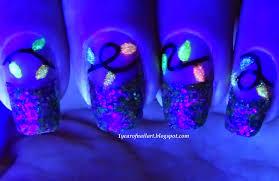 Christmas Light Nails by Challenge U2013 365daysofnailart