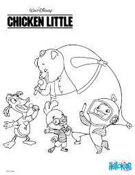 chicken little with friends coloring pages hellokids com