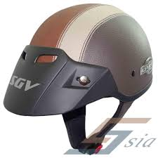 leather motorcycle helmet sgv extreme pvc leather helmet brown lazada malaysia
