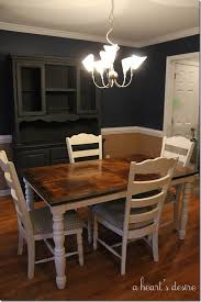 stained table top painted legs a heart s desire a dining set