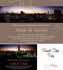 cocktail party invitation corporate farewell invite creative prints